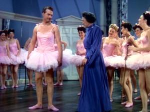 "Red Skelton in ballet or ""eurythmics"" class"