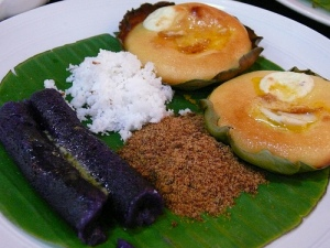 Puto Bumbong and Bibingka (photo from whydyoueatthat.wordpress.com)