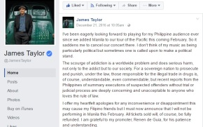 An Open Letter to James Taylor on his Cancelled Manila Concert
